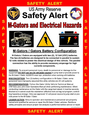 Safety Alert: M-Gators and Electrical Hazards