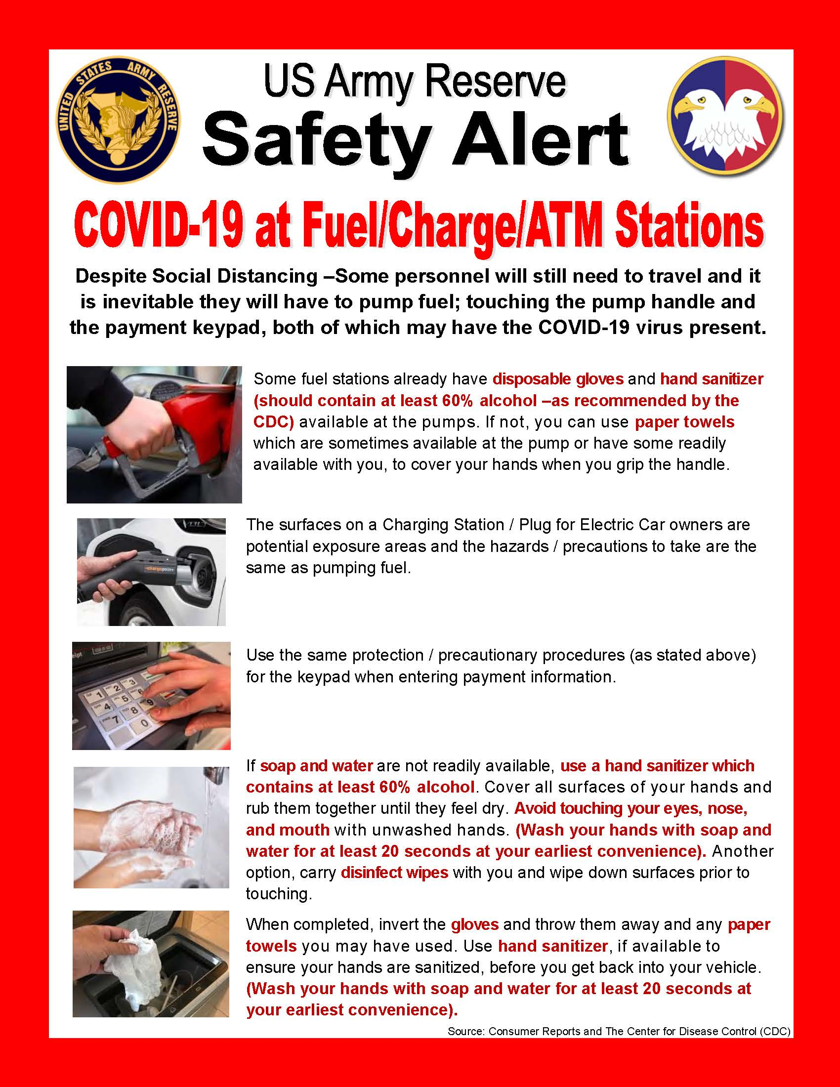 Safety Alert: COVID-19 at Fuel/Charge/ATM Stations