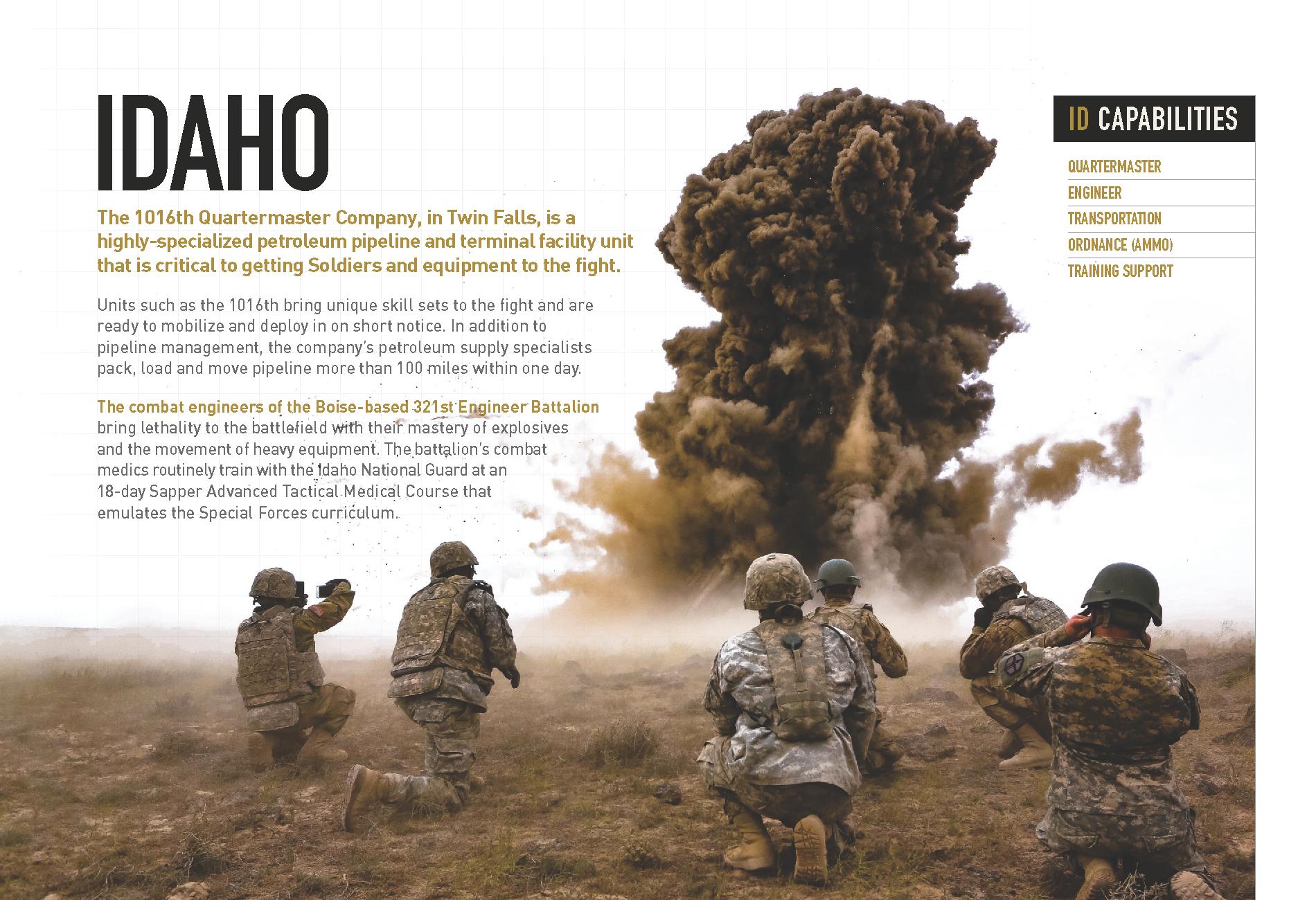 Idaho At A Glance. Printable Version