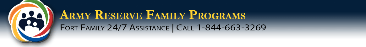 Army Reserve Family Programs banner