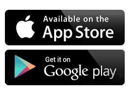 Apple App and Google Play stores