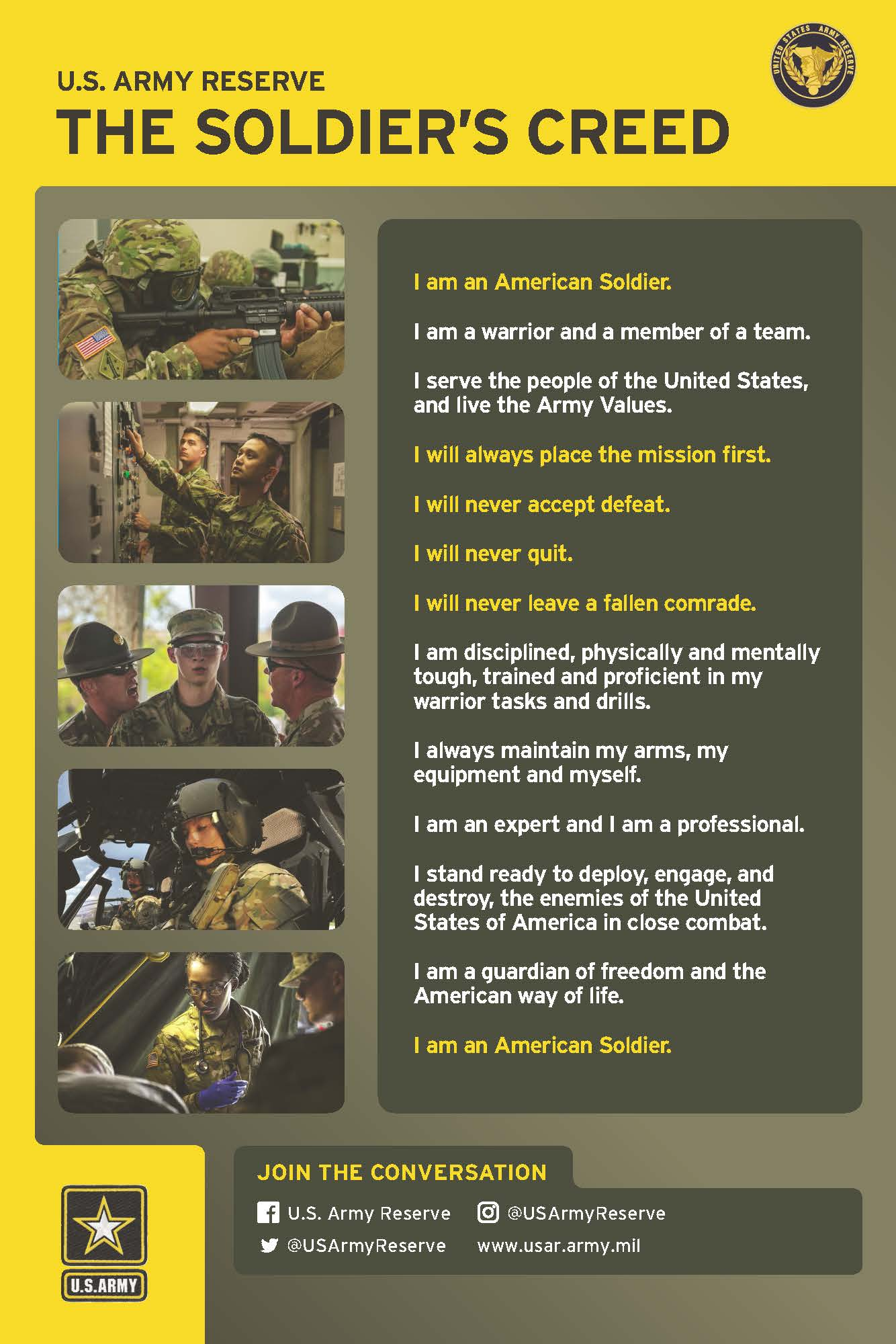Soldiers Creed infographic
